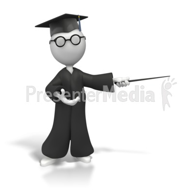 Professor With Pointer Display Presentation clipart