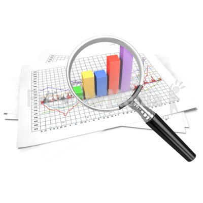Financial Data Zoom In Magnify Presentation clipart