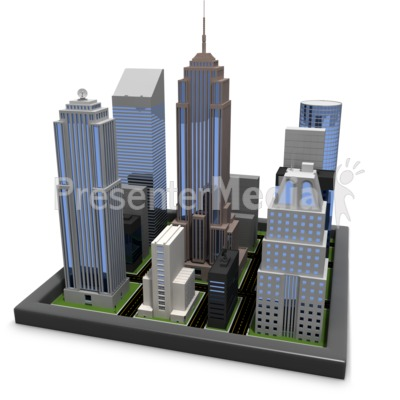 City Blocks Presentation clipart