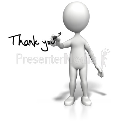Stick Figure Drawing Thank You Presentation clipart