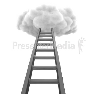 Ladder To Cloud Presentation clipart