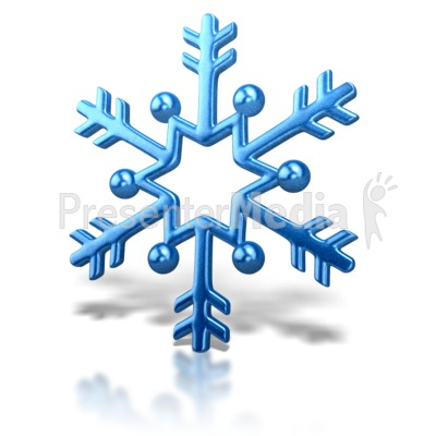 Snowflake Arrow Design Presentation clipart
