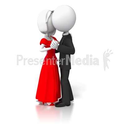 Couple Slow Dancing Presentation clipart