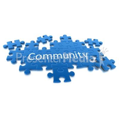 Puzzle Pieces Community Presentation clipart