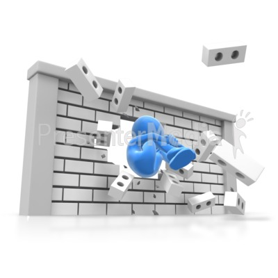 Human Cannonball Wall Break Presentation clipart