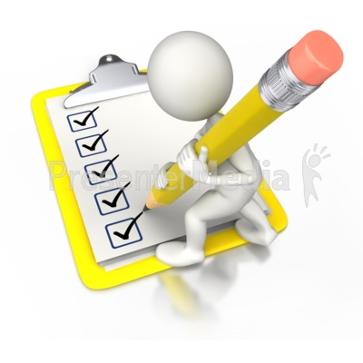 Check Off With Pencil Presentation clipart