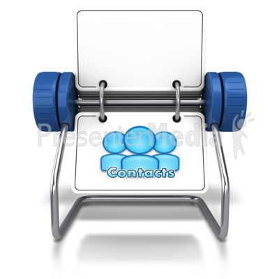 Contacts Office Card Holder Presentation clipart