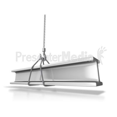 Hauling Steel Beam Presentation clipart