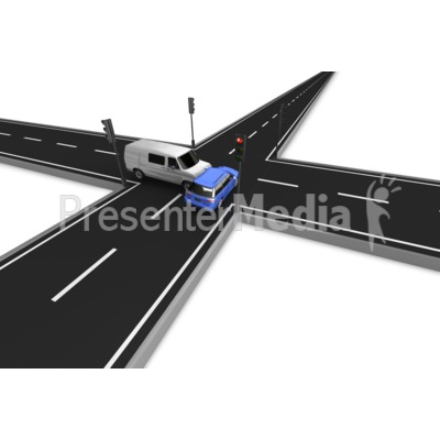 Red Light Run Accident Presentation clipart