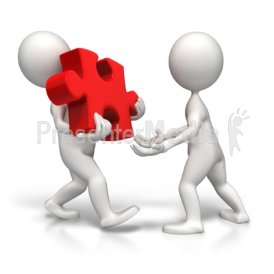 Sharing The Load Of The Puzzle Presentation clipart
