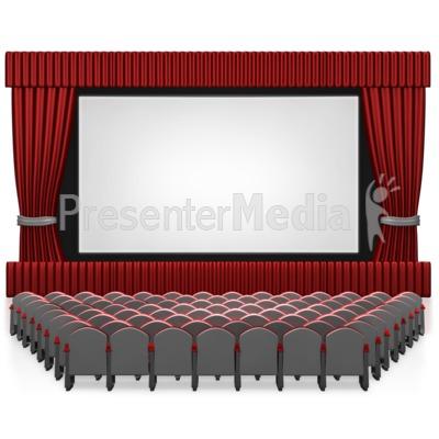 Empty Seat Movie Theater Presentation clipart