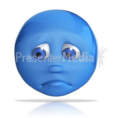 Emotion Head Sad Frown Presentation clipart