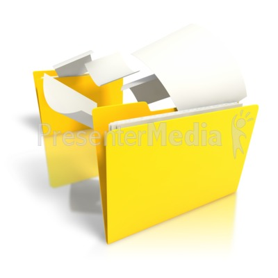Folder Files Transfer PowerPoint Clip Art