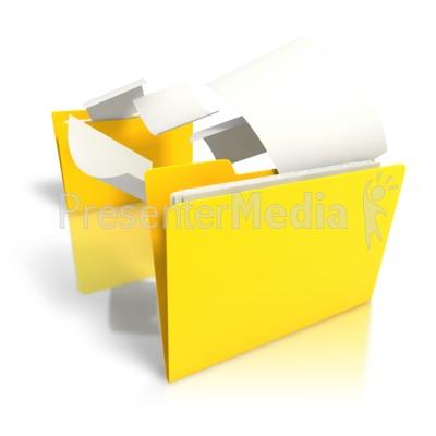 Folder Files Transfer Presentation clipart
