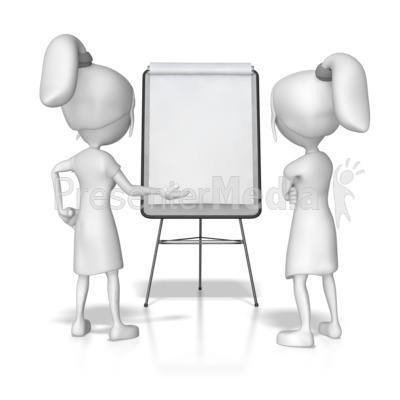 Women Flipboard Discussion Presentation clipart