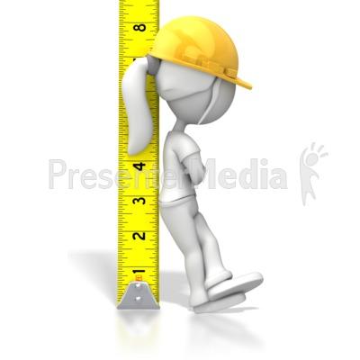 Woman Tape Measure Presentation clipart