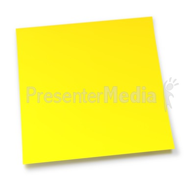 Blank Yellow Sticky Note Presentation clipart