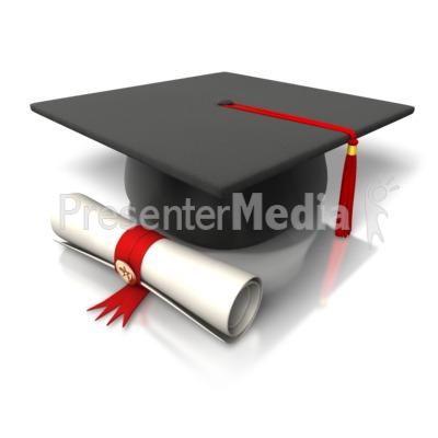 Diploma Hat Graduation Presentation clipart