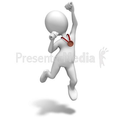 Bronze Medal Celebrate Presentation clipart