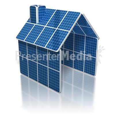 Solar Panel House Presentation clipart