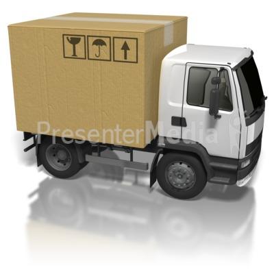Cardboard Box Truck Presentation clipart