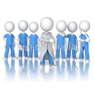 Doctor or Nurse Leader of the Team Presentation clipart