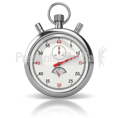 Stop Watch Front Presentation clipart