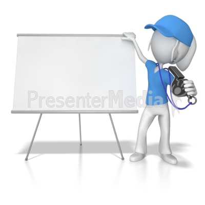 Female Coach at Whiteboard Presentation clipart