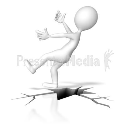 Falling Down Crack Presentation clipart