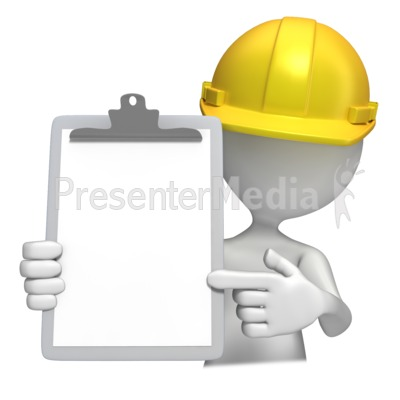 Construction Hardhat With Clipboard  Presentation clipart