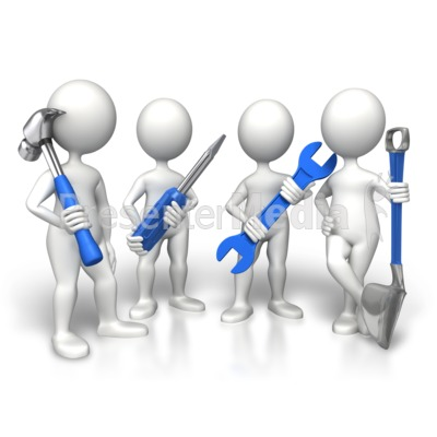 Group Construction Workers Presentation clipart
