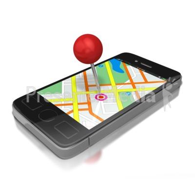 Gps Smart Phone Presentation clipart