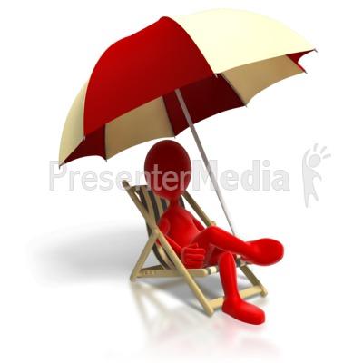 Relaxing In Beach Chair Presentation clipart