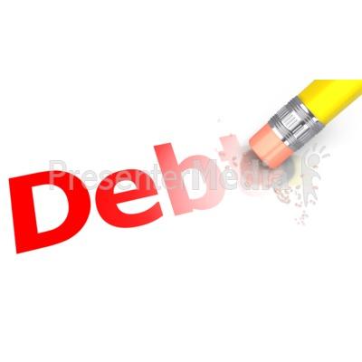 Erase The Debt Pencil Presentation clipart