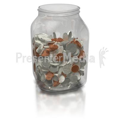 Coin Jar Presentation clipart