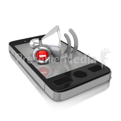 Smart Phone Mute Presentation clipart