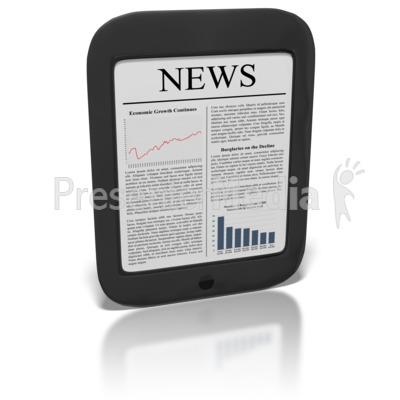 eReader News Presentation clipart
