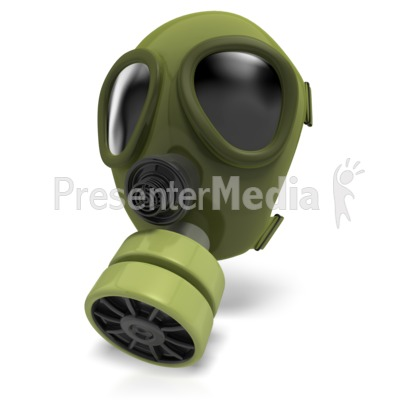 Gas Mask Radiation Presentation clipart