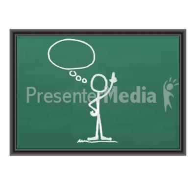 Chalk Figure Blank Idea Bubble Presentation clipart