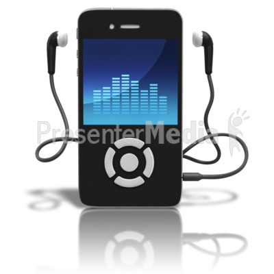 Music Player Standing Upright Presentation clipart