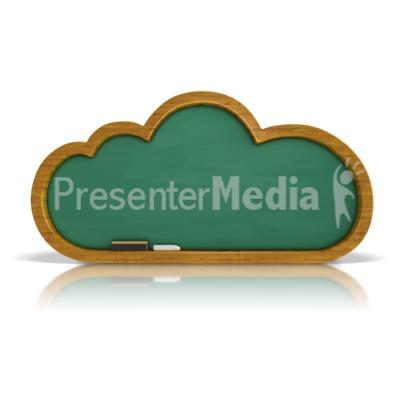 Chalkboard Cloud Presentation clipart