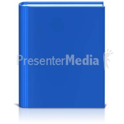 Front Facing Book Colored Presentation clipart