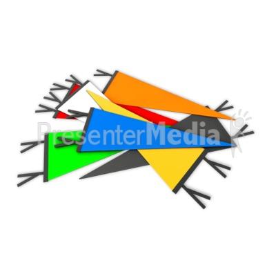 Pile Sports Pennant Presentation clipart