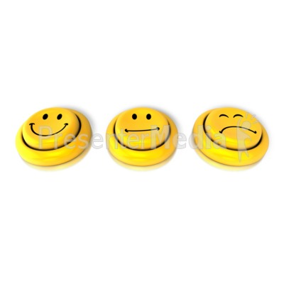 How Are You Feeling Button Presentation clipart