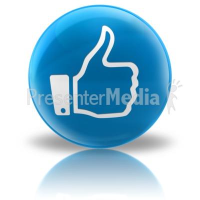Media Icon - Like Presentation clipart