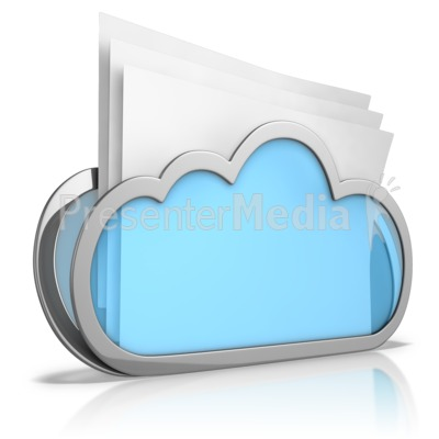 Cloud Folder Presentation clipart