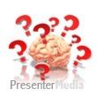 ID# 9219 - Brain With Questions - Presentation Clipart