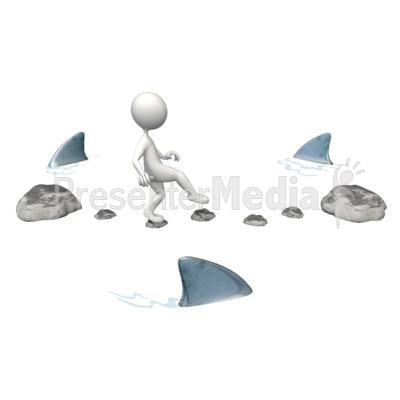 Risky Challenge Sharks Presentation clipart