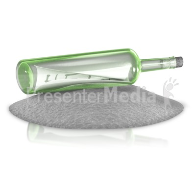 Message In A Bottle Presentation clipart