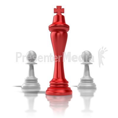 Chess King Presentation clipart